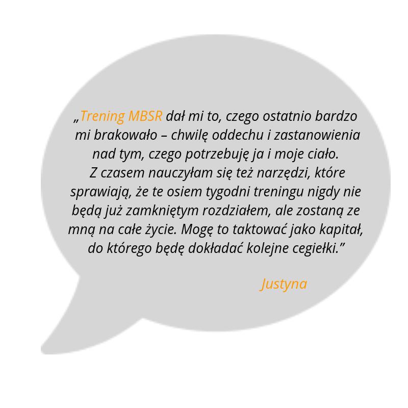 MBSR opinia o kursie Joanny Kaczmarek
